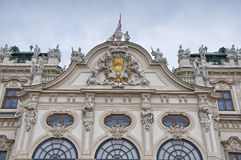 Detail from Upper Belvedere Palace in Vienna Royalty Free Stock Photos