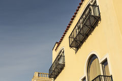 Detail of upscale home with balcony detail Stock Images