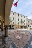 Urban architecture of Noli Savona stock photography