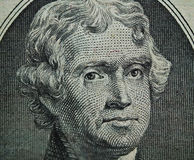 Detail of the US $2.00 Bill 2. A detail macro of the Thomas Jefferson portrait on the U.S. $2.00 bill Stock Photos
