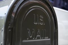 US mail letterbox. Detail of the US mail letterbox in New York. US postal servise as independent agnecy was formed in 1971 royalty free stock image