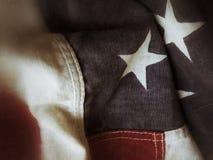 Detail of USA flag Stock Photo