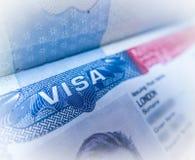 Detail Of A USA Visa Stock Photos