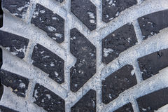 Detail of a used Tire Tread Royalty Free Stock Photo