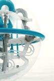 Detail van 3D bal van het spellabyrint Royalty-vrije Stock Afbeeldingen