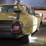Detail van achterdeel van uitstekende auto, Veteraanmuseum, Nova Bystrice Stock Afbeelding