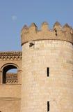 Detail van Aljaferia in Zaragoza Stock Foto's