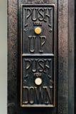 Detail van Antieke Liftknopen - de Verlaten Wiekbouw - Youngstown, Ohio royalty-vrije stock afbeeldingen