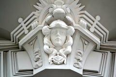 Detail van Art Nouveau Building Stock Fotografie