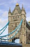 Detail van balken en toren op Torenbrug van de Zuidenbank Londen royalty-vrije stock afbeeldingen