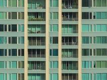 Detail van balkonvensters Stock Foto's