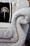 Detail van bankhandvat en hoofdkussen Royalty-vrije Stock Foto