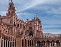 Detail van Beautiful Plaza DE Espana, Sevilla, Spanje royalty-vrije stock foto's