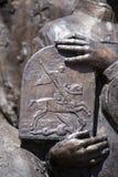 Detail van beeldhouwwerk in ivano-Frankivsk, de Oekraïne Stock Fotografie