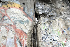 Detail van Berlin Wall in Duitsland Stock Foto