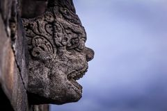 Detail van Borobudur-Tempel, Java, Indonesië royalty-vrije stock afbeeldingen