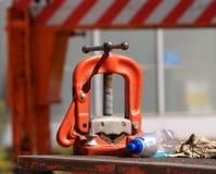 Detail van bouwhulpmiddel. stock foto's