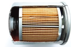 Detail van brandstoffilter voor motorauto Royalty-vrije Stock Fotografie