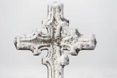 Detail van calvary dwars openlucht van het godsdienstsymbool Stock Afbeelding