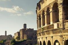 Detail van Colosseum in Rome, Italië Royalty-vrije Stock Afbeeldingen