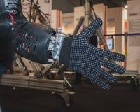 Detail van Coman-robot op vertoning in Solarexpo 2014 in Milaan, Italië Stock Foto's