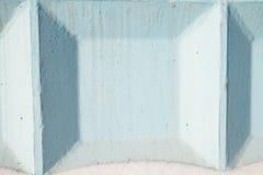 Detail van concrete die muur in blauwe kleur wordt geschilderd Royalty-vrije Stock Fotografie