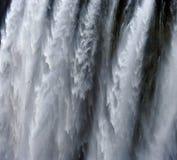 Detail van dalend water Victoria Falls Close-up Nationaal park mosi-OA-Tunya en de Plaats van de Werelderfenis Zambiya zimbabwe Royalty-vrije Stock Afbeelding