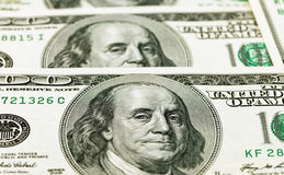 Detail van de 100 dollarrekening Royalty-vrije Stock Foto's