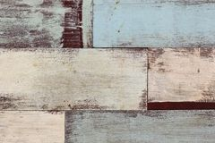 Detail van de abstracte houten muur van de kunstkleur Stock Foto