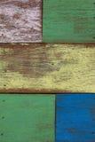 Detail van de abstracte houten muur van de kunstkleur Royalty-vrije Stock Foto's
