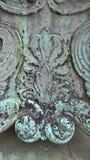 Detail van de Achtergrond van de Textuurgrunge van de Metaalroest Royalty-vrije Stock Afbeeldingen