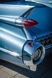 Detail van de achtervleugel en de stoplichten van de auto Cadillac Coupe DE Ville, 1959 Royalty-vrije Stock Foto's