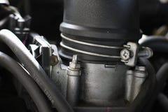 Detail van de auto van de motoropname royalty-vrije stock afbeeldingen
