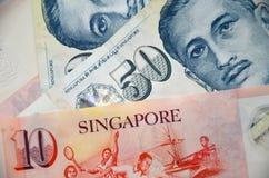 Detail van de bankbiljetten van Singapore Stock Foto's
