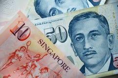 Detail van de bankbiljetten van Singapore Royalty-vrije Stock Foto