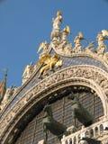 Detail van de Basiliek van het Teken van Heilige, Venetië, Italië Royalty-vrije Stock Foto's