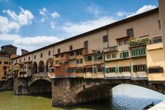 Detail van de beroemde Brug van Ponte Vecchio, Italië Royalty-vrije Stock Foto's