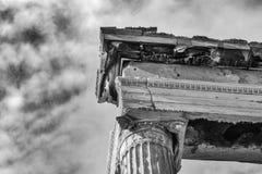 Detail van de bovenkant van een herstelde kolom op Parthenon op A Royalty-vrije Stock Fotografie