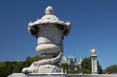 Detail van de brug van Parijs Royalty-vrije Stock Fotografie