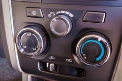 Detail van de controle van de airconditioningsknoop binnen Stock Foto
