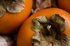 Detail van de dadelpruim van het kakifruit stock fotografie
