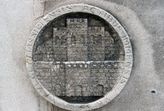 Detail van de de bouwmuur in Marseille, Frankrijk Royalty-vrije Stock Fotografie