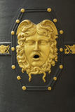Detail van de de deurornamenten en details van het Algemene die gebouw van Capitania in Barcelona wordt gevestigd Stock Foto