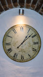Detail van de de tijd het oude klok van de uurklok Royalty-vrije Stock Foto