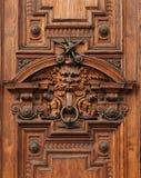 Detail van de deur van een oud rijk paleis Stock Foto