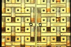 Detail van de deur van het luxemetaal aan Assemblage van Turkije royalty-vrije stock afbeeldingen