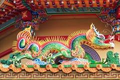 Detail van de Draak in Dragon And Tiger Pagodas van Lotus Pond, Kaohsiung stock foto's