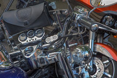 Detail van de fiets Stock Foto's