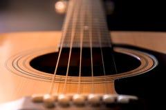 Detail van de gitaar Stock Foto