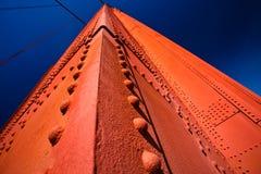 Detail van de Gouden Blauwe Hemel van de Toren van de Brug van de Poort Royalty-vrije Stock Foto's